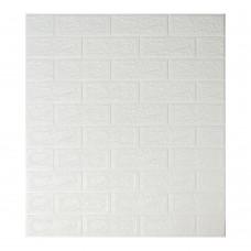 Самоклеющаяся декоративная 3D панель под белый кирпич 700x770x5 мм