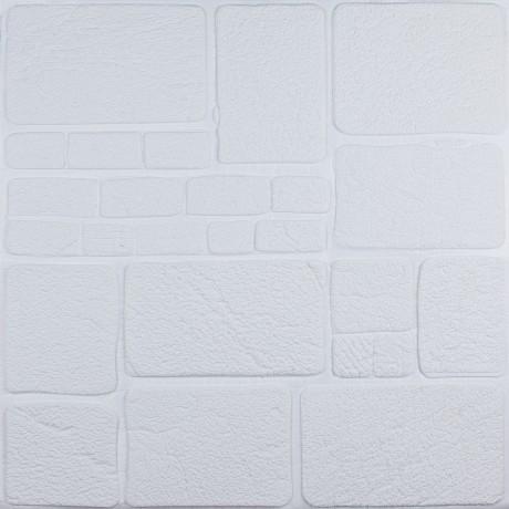 Самоклеющаяся декоративная 3D панель белый камень