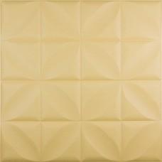 Самоклеюча 3D панель жовтий ромб 700x700x8мм