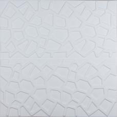 Самоклеюча 3D панель біла павутинка 700x700x8мм