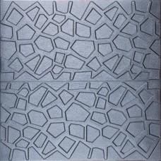 Самоклеюча 3D панель сіра павутинка 700x700x8мм