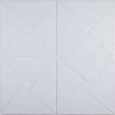 Самоклеюча 3D панель білий ромб 700x700x6,5 мм