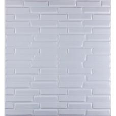 Самоклеюча декоративна 3D панель біла кладка 700x770x8мм