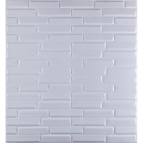 Самоклеюча декоративна 3D панель біла кладка