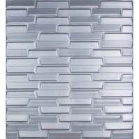 Самоклеюча декоративна 3D панель сіра кладка 700x770x8мм
