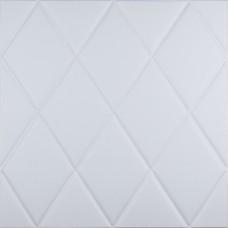 Самоклеюча 3D панель біла ромби 700x700x7мм
