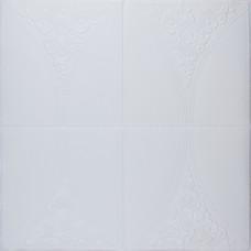Самоклеюча 3D панель біла троянда 700x700x4мм