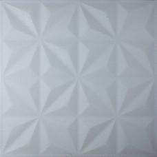 Самоклеюча 3D панель біла зірки 700x700x8мм