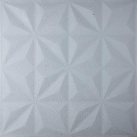 Самоклеющаяся 3D панель белая звезды 700x700x8мм
