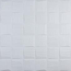 Самоклеюча 3D панель білі рвані кубики 700x700x8мм