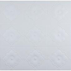 Самоклеюча 3D панель біла лілія 700x700x5.5мм