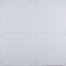 Самоклеюча 3D панель біла піраміда 700x700x4.5мм