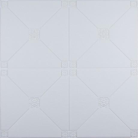 Самоклеющаяся 3D панель белая пирамида 700x700x4.5мм