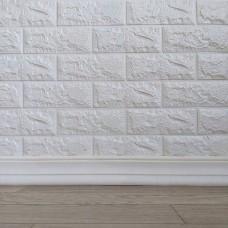 Самоклеючий гнучкий плінтус (багет) білий 2400х80мм