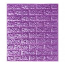 Самоклеюча декоративна 3D панель під фіолетову цеглу 700x770x7мм