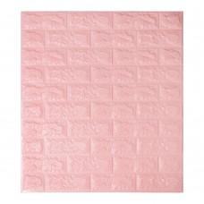 Самоклеющаяся декоративная 3D панель под розовый кирпич 700x770x7мм