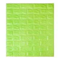 Самоклеюча декоративна 3D панель під зелену цеглу 700x770x7мм