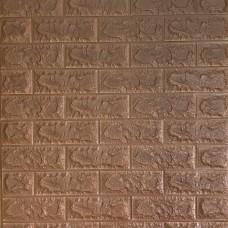 Самоклеюча декоративна 3D панель під коричневу цеглу 700x770x7мм