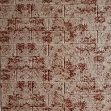 Самоклеющаяся декоративная 3D панель под кирпич красный мрамор 700x770x5мм