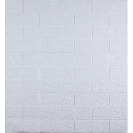 Самоклеющаяся декоративная 3D панель под белый кирпич 700x770x3 мм