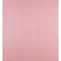 Самоклеющаяся декоративная 3D панель под розовый кирпич 700x770x3мм