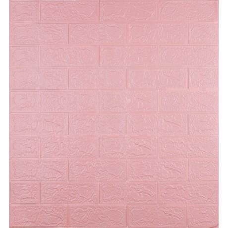 Самоклеющаяся декоративная 3D панель под розовый кирпич 3 мм