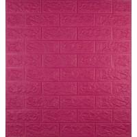 Самоклеющаяся декоративная 3D панель под темно-розовый кирпич 700x770x5 мм