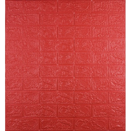 Самоклеющаяся декоративная 3D панель под красный кирпич 3 мм