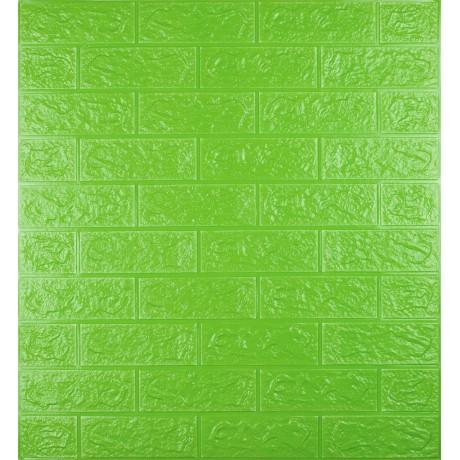 Самоклеющаяся декоративная 3D панель под зеленый кирпич 5 мм