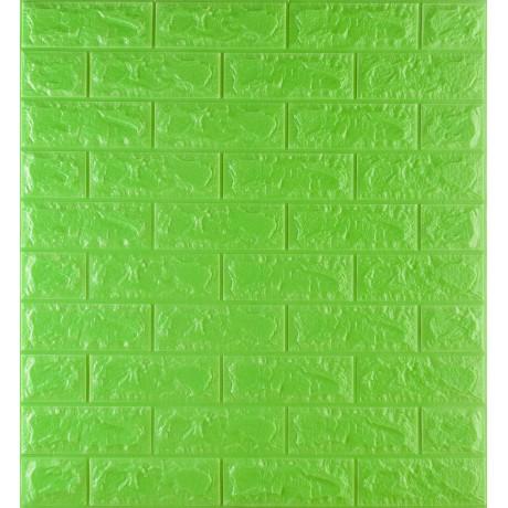 Самоклеюча декоративна 3D панель під зелену цеглу