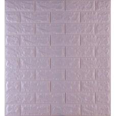 Самоклеющаяся декоративная 3D панель под светло-фиолетовый кирпич 700x770x7мм