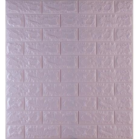 Самоклеющаяся декоративная 3D панель под светло-фиолетовый кирпич