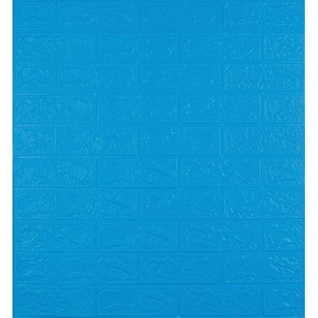 Самоклеющаяся декоративная 3D панель под синий кирпич 3 мм