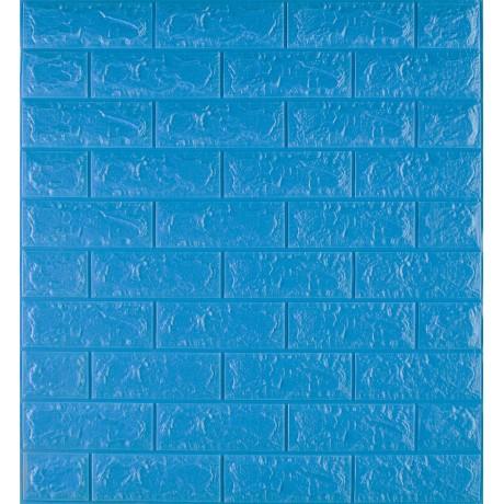 Самоклеюча декоративна 3D панель під синю цеглу