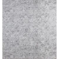 Самоклеющаяся декоративная 3D панель под кирпич светло-серый мрамор 700x770x5мм