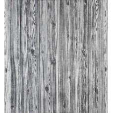 Самоклеющаяся декоративная 3D панель под дерево цвета зебры 700x700x7мм