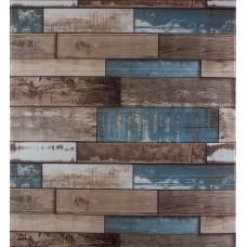 Самоклеющаяся декоративная 3D панель синее дерево 700x770x5мм
