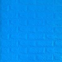 Самоклеюча декоративна 3D панель під синю цеглу 700x770x7мм